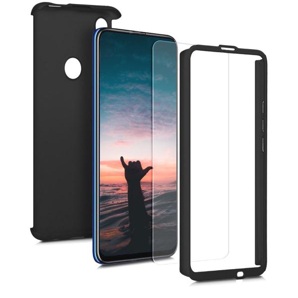 Husa Full Cover 360 + folie sticla pentru Huawei P Smart Z, Negru [1]