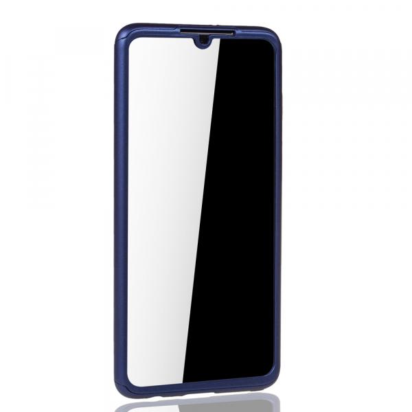 Husa Full Cover 360 + folie sticla pentru Huawei P30, Albastru 2
