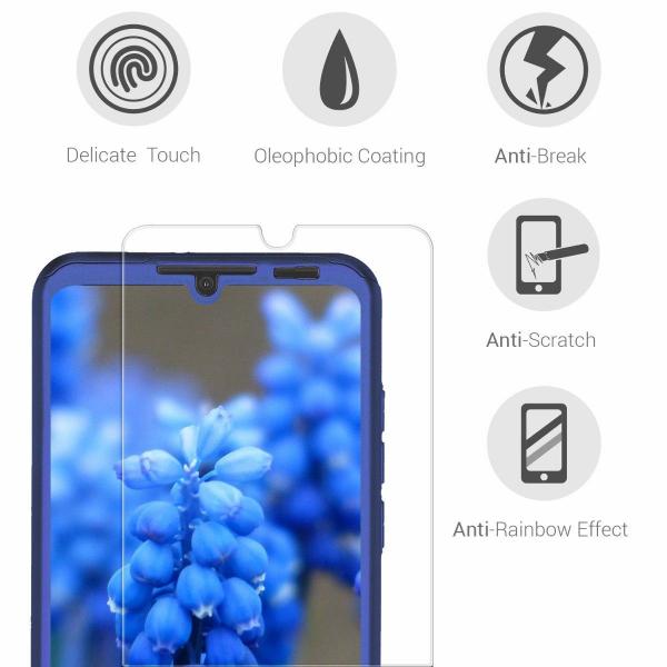 Husa Full Cover 360 + folie sticla pentru Huawei P30 Lite, Albastru 2