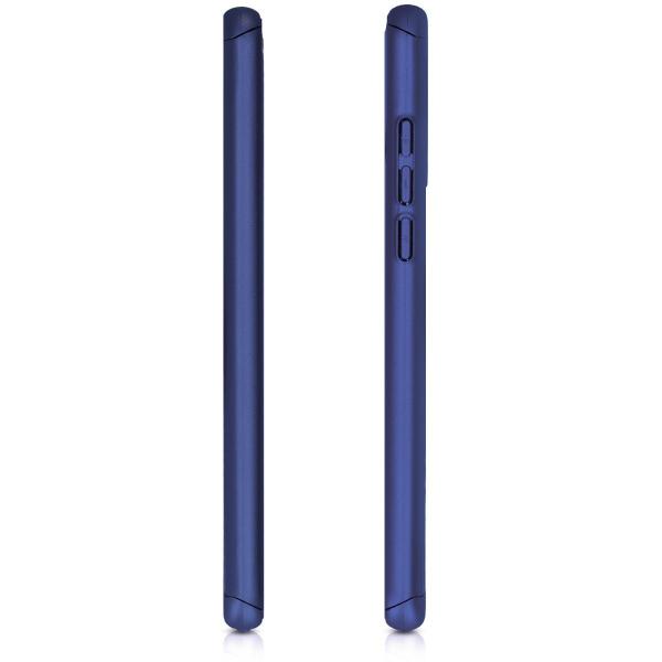 Husa Full Cover 360 + folie sticla pentru Huawei P30 Lite, Albastru 3