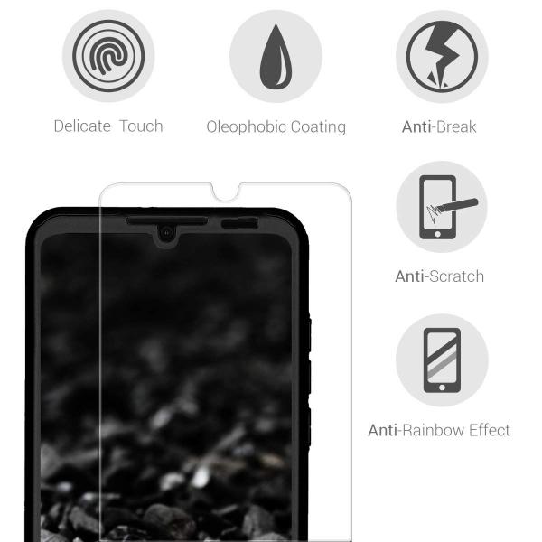 Husa Full Cover 360 + folie sticla pentru Huawei P30 Lite, Negru 3