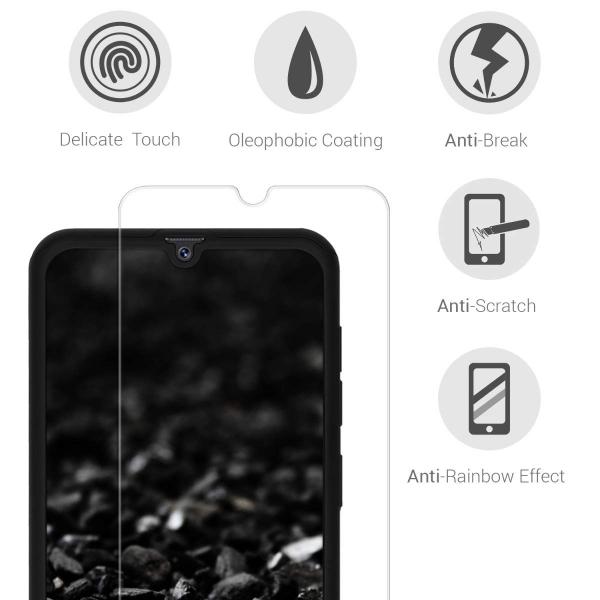 Husa Full Cover 360 + folie sticla pentru Samsung Galaxy A50, Negru 3