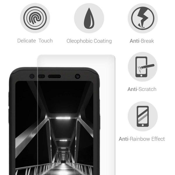 Husa Full Cover 360 + folie sticla pentru Samsung Galaxy J4 Plus (2018), Negru 3