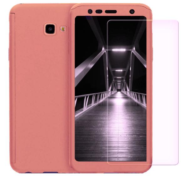 Husa Full Cover 360 + folie sticla pentru Samsung Galaxy J4 Plus (2018), Rose Gold 0