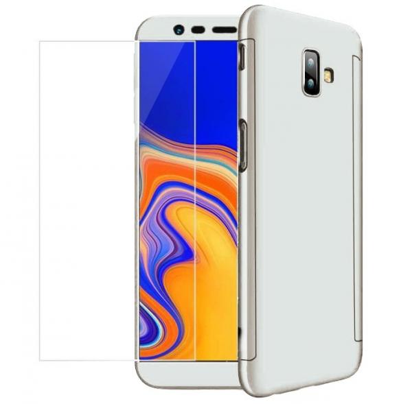 Husa Full Cover 360 + folie sticla pentru Samsung Galaxy J6 Plus (2018), Silver [0]