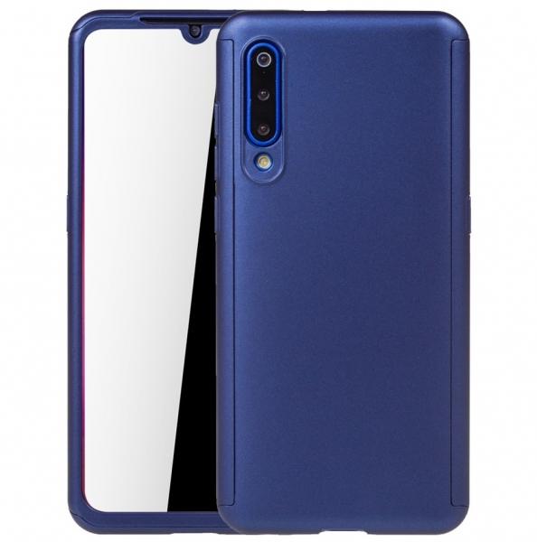 Husa Full Cover 360 + folie sticla pentru Xiaomi Mi 9, Albastru 0