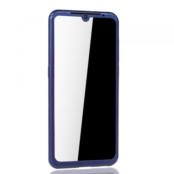 Husa Full Cover 360 + folie sticla pentru Xiaomi Mi 9, Albastru 3