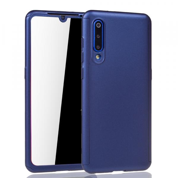 Husa Full Cover 360 + folie sticla pentru Xiaomi Mi 9, Albastru 1