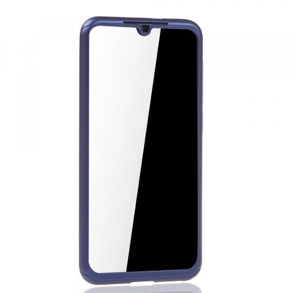 Husa Full Cover 360 + folie sticla pentru Xiaomi Mi 9 SE, Albastru 2