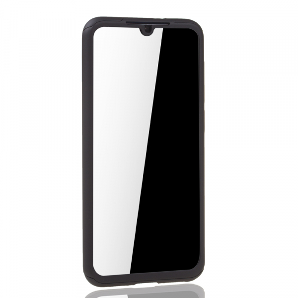 Husa Full Cover 360 + folie sticla pentru Xiaomi Mi 9 SE, Negru 4