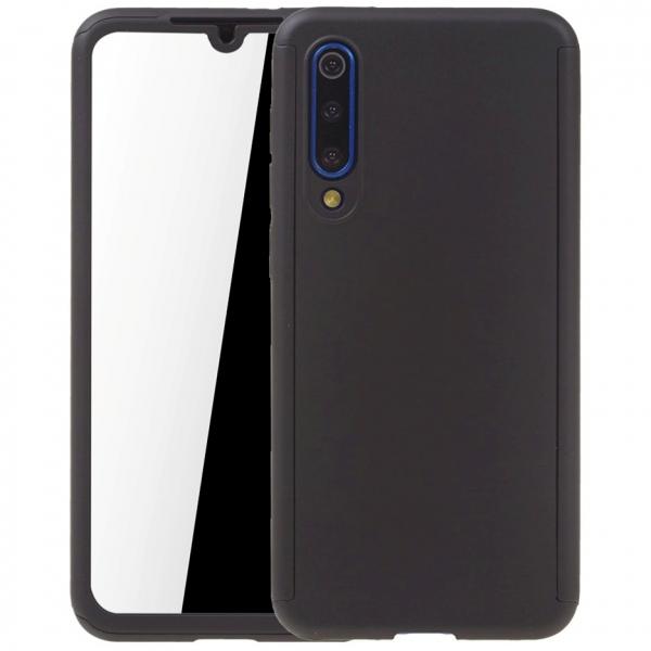 Husa Full Cover 360 + folie sticla pentru Xiaomi Mi 9 SE, Negru 0