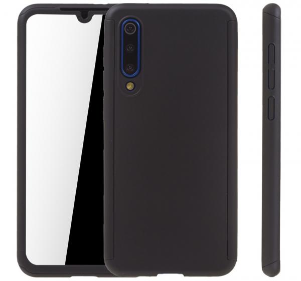 Husa Full Cover 360 + folie sticla pentru Xiaomi Mi 9 SE, Negru 1