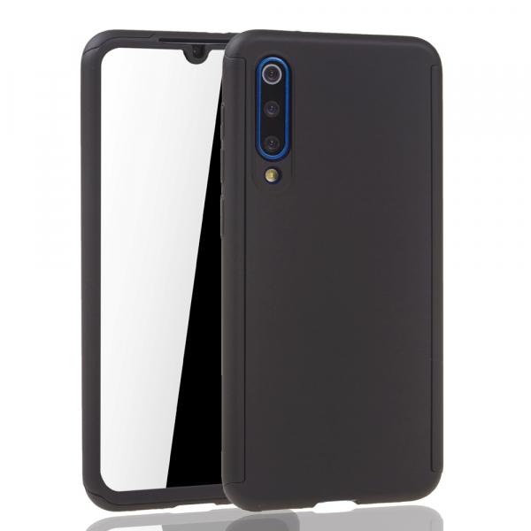 Husa Full Cover 360 + folie sticla pentru Xiaomi Mi 9 SE, Negru 2