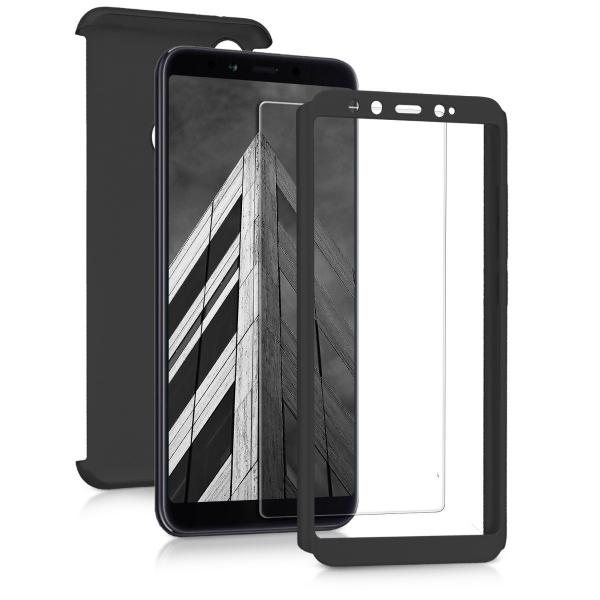 Husa Full Cover 360 + folie sticla pentru Xiaomi Mi A2, Negru 1