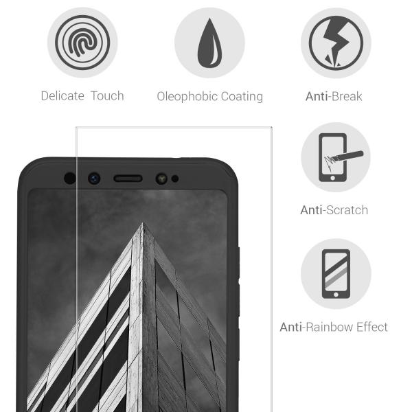 Husa Full Cover 360 + folie sticla pentru Xiaomi Mi A2, Negru 2