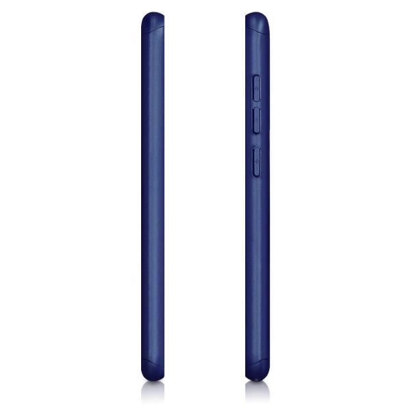 Husa Full Cover 360 + folie sticla pentru Xiaomi Pocophone F1, Albastru 2