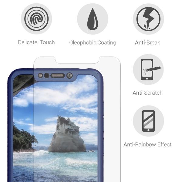 Husa Full Cover 360 + folie sticla pentru Xiaomi Pocophone F1, Albastru 3