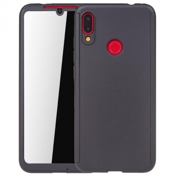 Husa Full Cover 360 + folie sticla pentru Xiaomi Redmi 7, Negru [0]