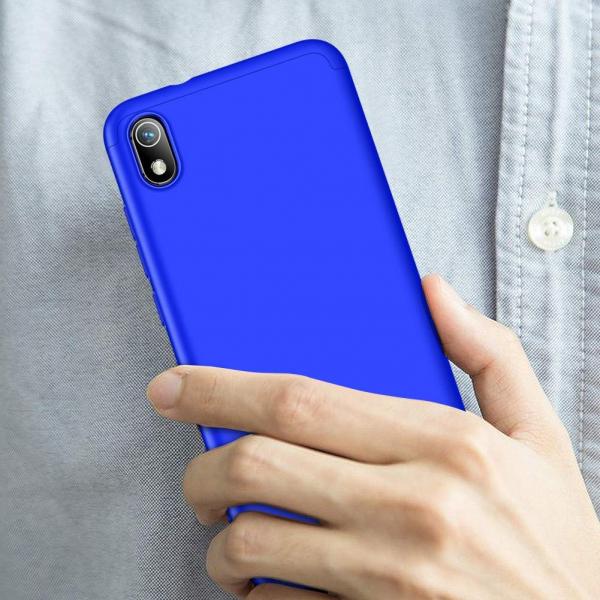 Husa Full Cover 360 + folie sticla pentru Xiaomi Redmi 7A, Albastru 1