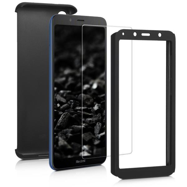 Husa Full Cover 360 + folie sticla pentru Xiaomi Redmi 7A, Negru [1]