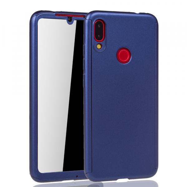Husa Full Cover 360 + folie sticla pentru Xiaomi Redmi Note 7, Albastru 1