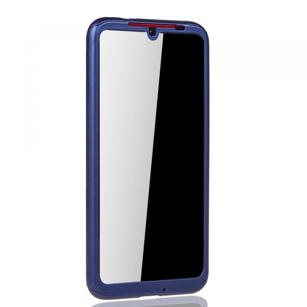 Husa Full Cover 360 + folie sticla pentru Xiaomi Redmi Note 7, Albastru 3