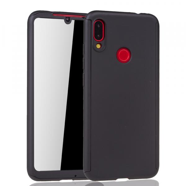 Husa Full Cover 360 + folie sticla pentru Xiaomi Redmi Note 7, Negru 1