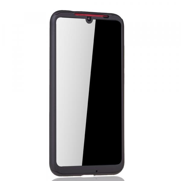 Husa Full Cover 360 + folie sticla pentru Xiaomi Redmi Note 7, Negru 2