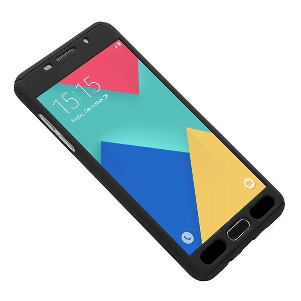 Husa Full Cover 360 + folie sticla Samsung Galaxy A5 (2016), Negru 3