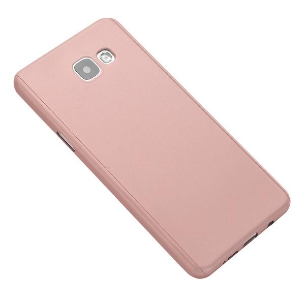 Husa Full Cover 360 + folie sticla Samsung Galaxy A5 (2016), Rose Gold 1