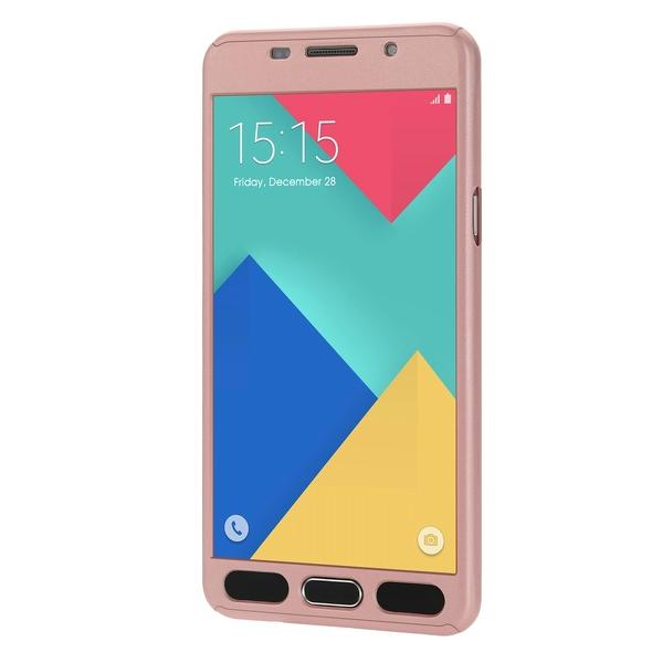 Husa Full Cover 360 + folie sticla Samsung Galaxy A5 (2016), Rose Gold 2