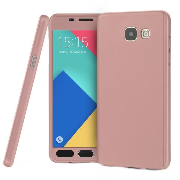 Husa Full Cover 360 + folie sticla Samsung Galaxy A5 (2016), Rose Gold 0