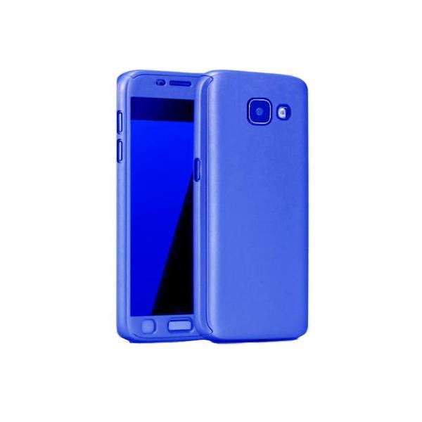 Husa Full Cover 360 + folie sticla Samsung Galaxy A5 (2017), Albastru [0]