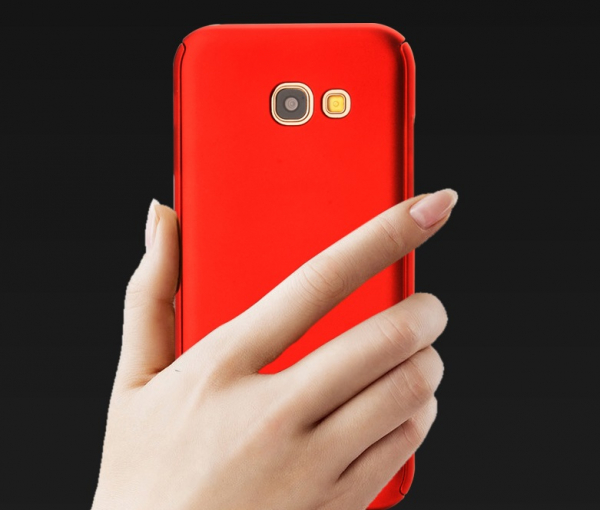 Husa Full Cover 360 + folie sticla Samsung Galaxy A5 (2017), Red 1