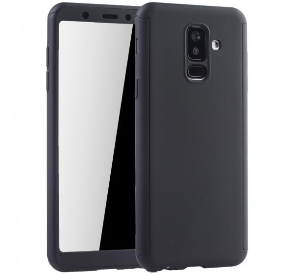 Husa Full Cover 360 + folie sticla Samsung Galaxy A6+ (2018), Negru [0]