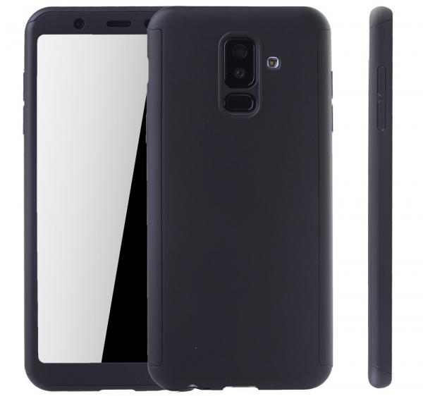 Husa Full Cover 360 + folie sticla Samsung Galaxy A6+ (2018), Negru [1]