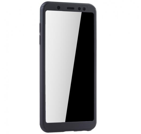 Husa Full Cover 360 + folie sticla Samsung Galaxy A6 (2018), Negru [2]