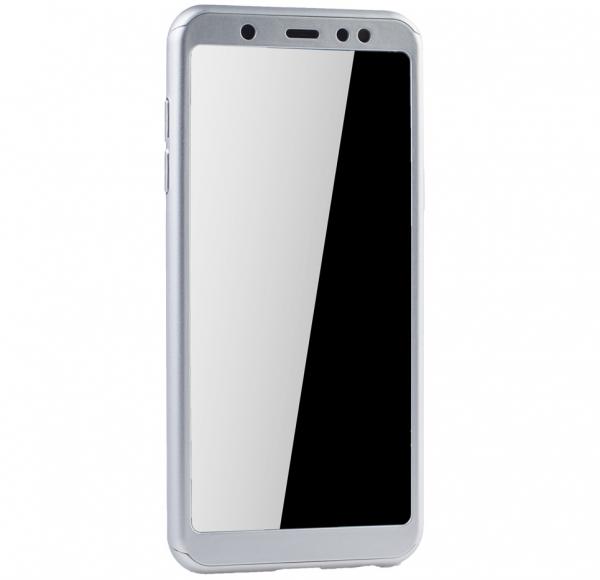 Husa Full Cover 360 + folie sticla Samsung Galaxy A6+ (2018), Silver 1