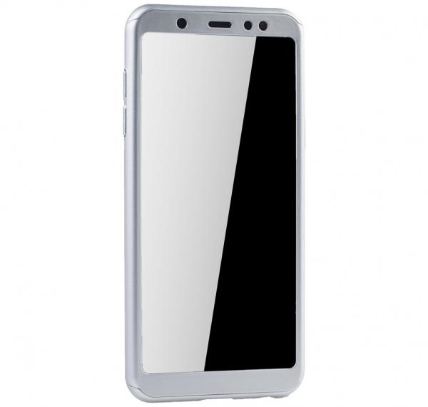 Husa Full Cover 360 + folie sticla Samsung Galaxy A6 (2018), Silver 2