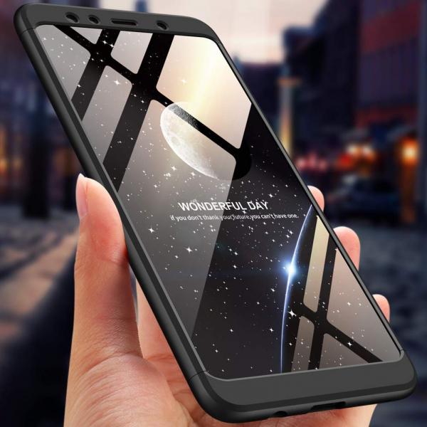 Husa Full Cover 360 + folie sticla Samsung Galaxy A7 (2018), Negru 2