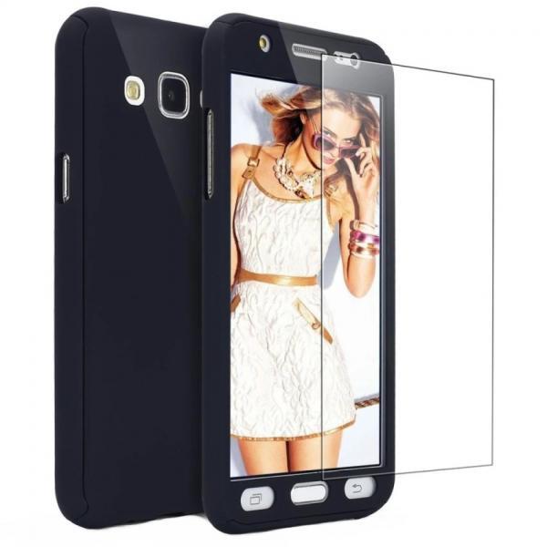 Husa Full Cover 360 + folie sticla Samsung Galaxy J3 (2016), Negru 0