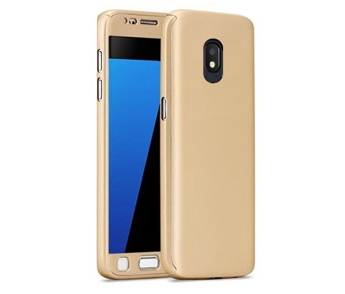 Husa Full Cover 360 + folie sticla Samsung Galaxy J3 (2017), Gold 0
