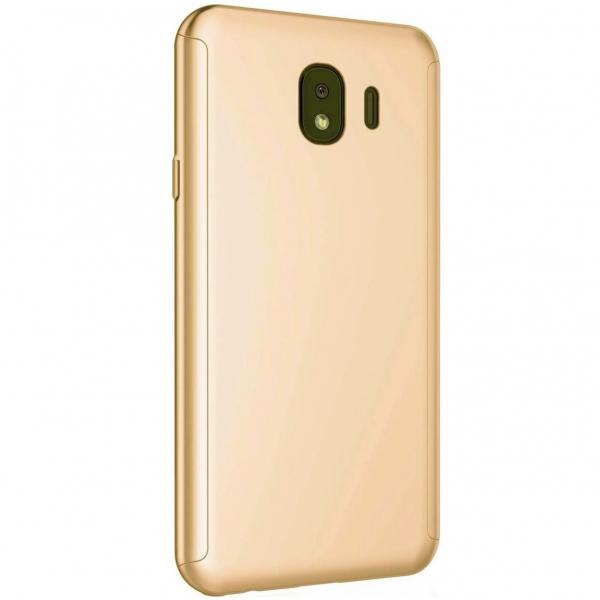Husa Full Cover 360 + folie sticla Samsung Galaxy J4 (2018), Gold [1]