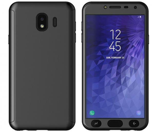 Husa Full Cover 360 + folie sticla Samsung Galaxy J4 (2018), Negru 1