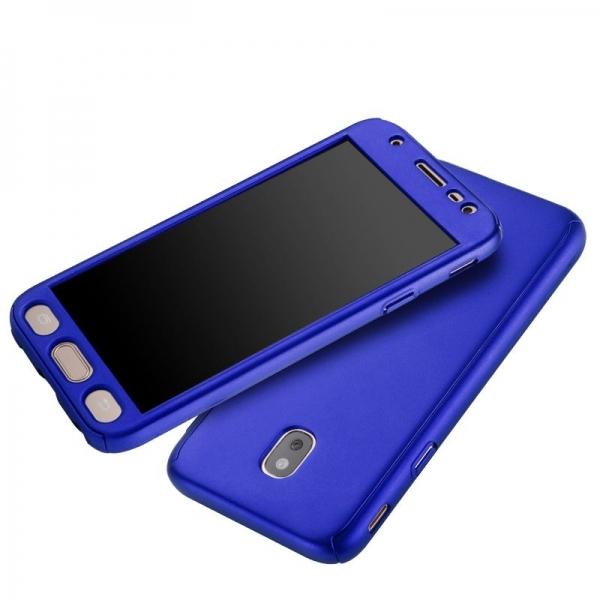 Husa Full Cover 360 + folie sticla Samsung Galaxy J5 (2017), Albastru 2