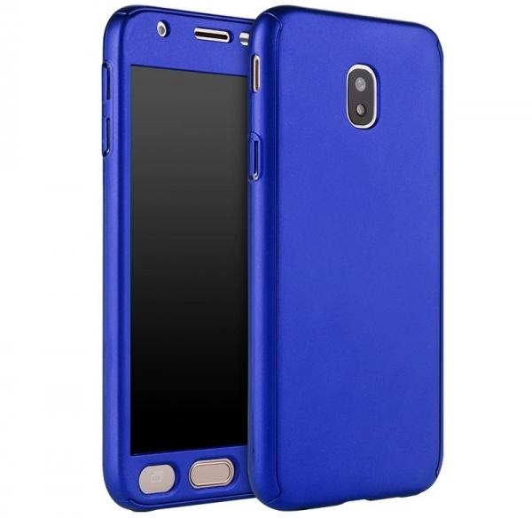Husa Full Cover 360 + folie sticla Samsung Galaxy J5 (2017), Albastru 0