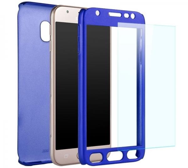 Husa Full Cover 360 + folie sticla Samsung Galaxy J5 (2017), Albastru 1