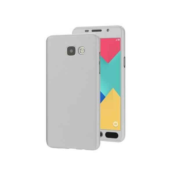 Husa Full Cover 360 + folie sticla Samsung Galaxy J5 Prime, Silver 0