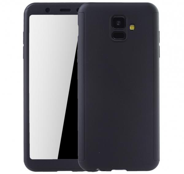 Husa Full Cover 360 + folie sticla Samsung Galaxy J6 (2018), Negru 0