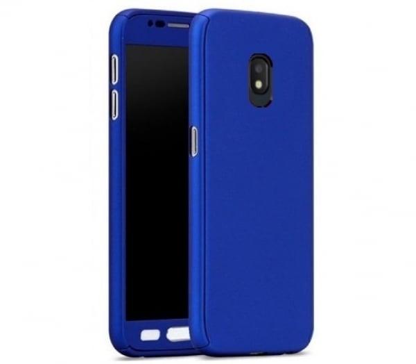 Husa Full Cover 360 + folie sticla Samsung Galaxy J7 (2017), Albastru 0